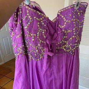 dress up time Dresses - Plus size corset prom dress